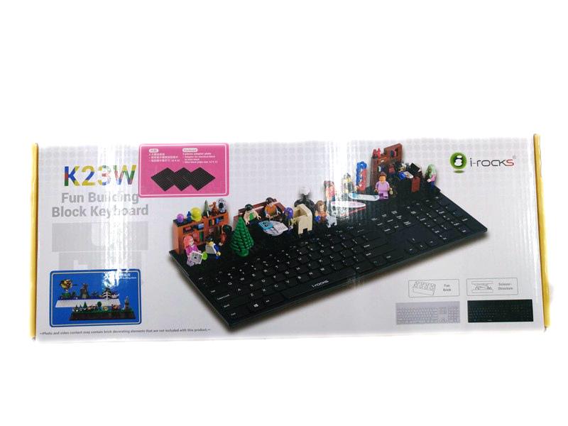 i-rocks IRK23W 剪刀腳積木鍵盤簡易開箱