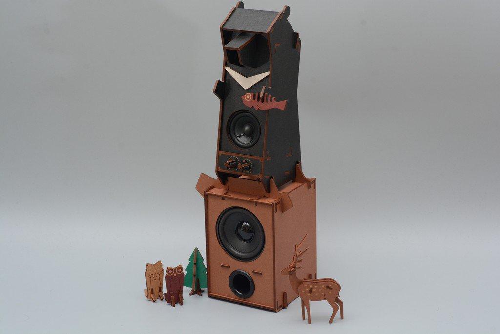 動手做音響!Stereo Puzzle立體拼圖音響 台灣黑熊版開箱評測