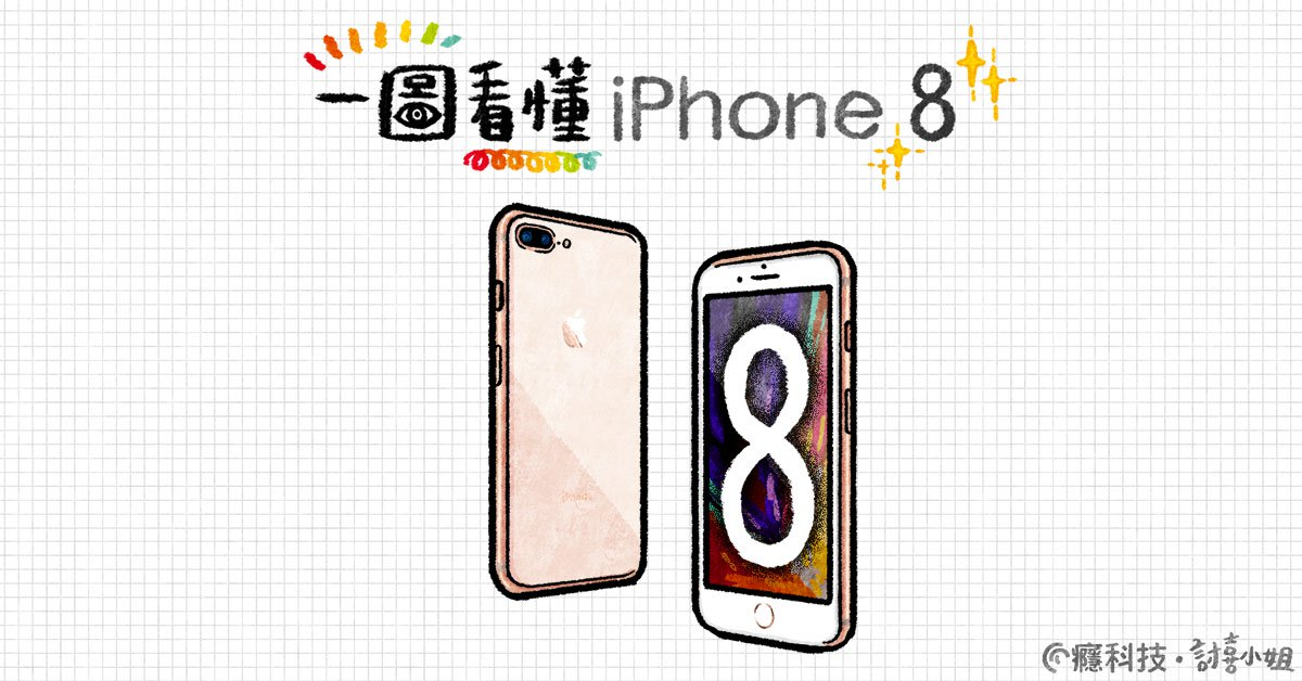 一圖看懂 Apple iPhone 8、iPhone 8 Plus