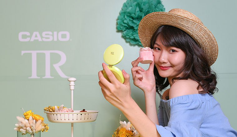 CASIO新自拍神器TR mini聚光蜜粉機全球首賣,售價15490元