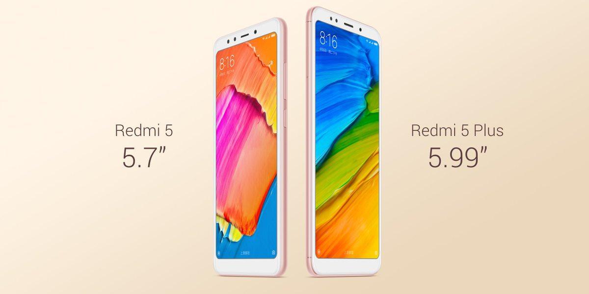 台灣小米發表平價全螢幕手機 紅米 5 / 紅米 5 Plus!市面平價全螢幕手機規格表彙整!