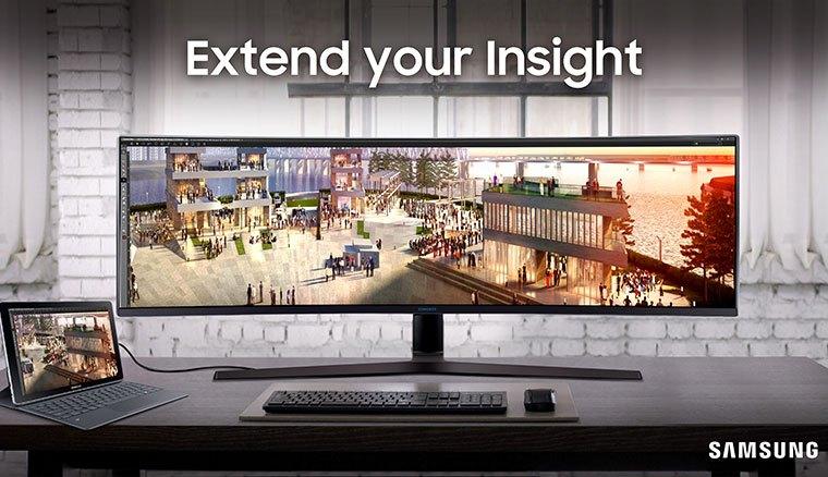 超霸氣!三星推出配備49吋32:9面板的Samsung C49J89超寬曲面顯示器