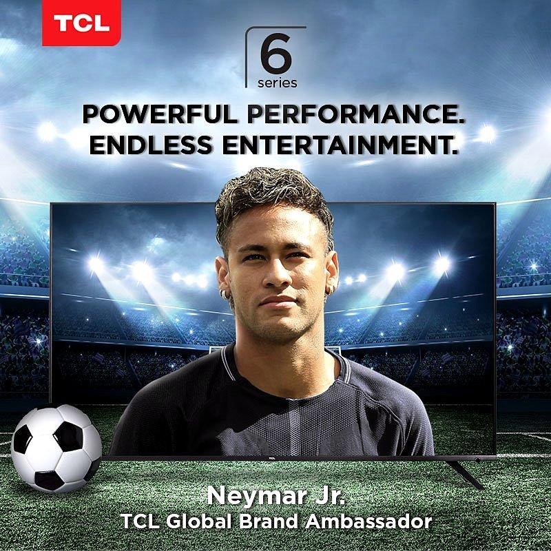 主攻 P6 4K HDR 智能電視,球星尼馬簽約 TCL 品牌大使