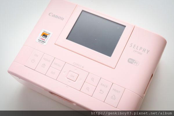 【開箱】隨身印表機!Canon SELPHY CP1300相片印表機粉色登場!