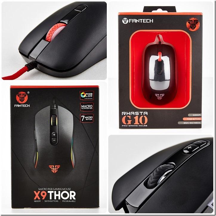 【開箱】Fantech 一門雙傑, 電競滑鼠X9、G10比較