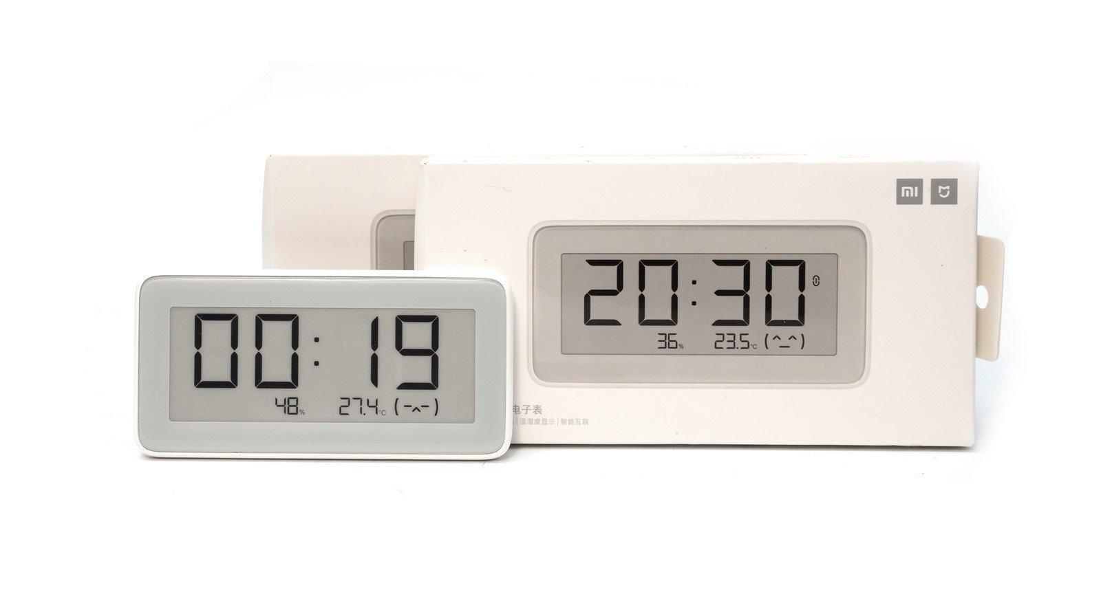 【開箱】美型小米米家溫濕監測電子錶 – 電子紙打造溫濕度時鐘