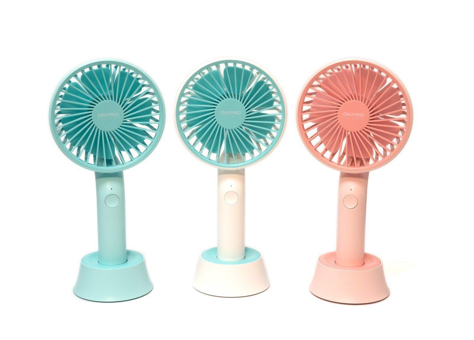 【開箱】ONPRO夏日美型隨行手風扇 – 三段風力、Mirco USB 充電