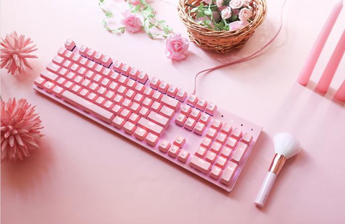 【開箱】男女都瘋狂!時尚 i-rocks K75M 粉紅機械鍵盤來了!