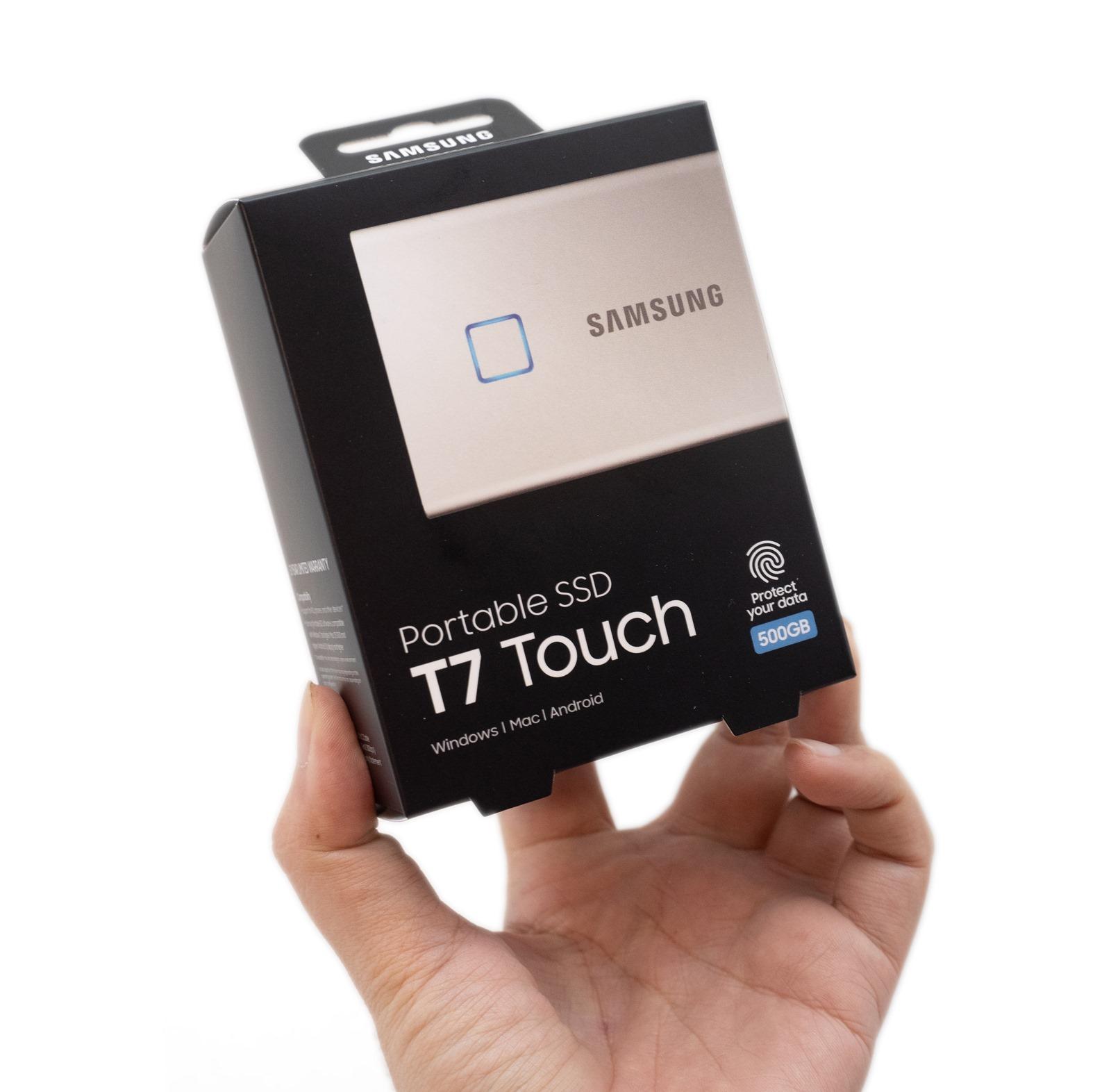 【開箱】輕薄高速還有指紋辨識!三星移動式T7 Touch SSD開箱分享