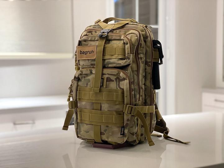 【開箱】Bagrun二代都會玩家軍事風格瞬開後背包