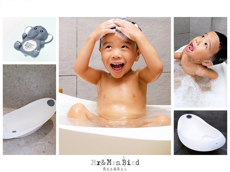 【開箱】寶寶洗澎澎!0~5歲可以用的丹麥設計mininor寶寶浴缸