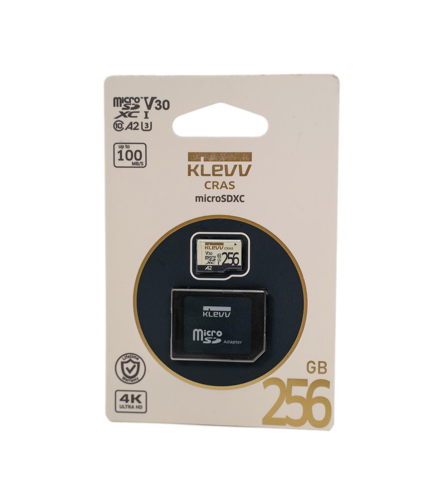 【開箱】KLEVV科賦MicroSDXC 256GB記憶卡實測