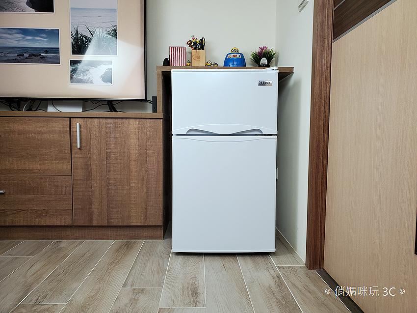 【開箱】東元TECO R1001W 100公升雙門冰箱,小冰箱也有雙層冷凍庫!
