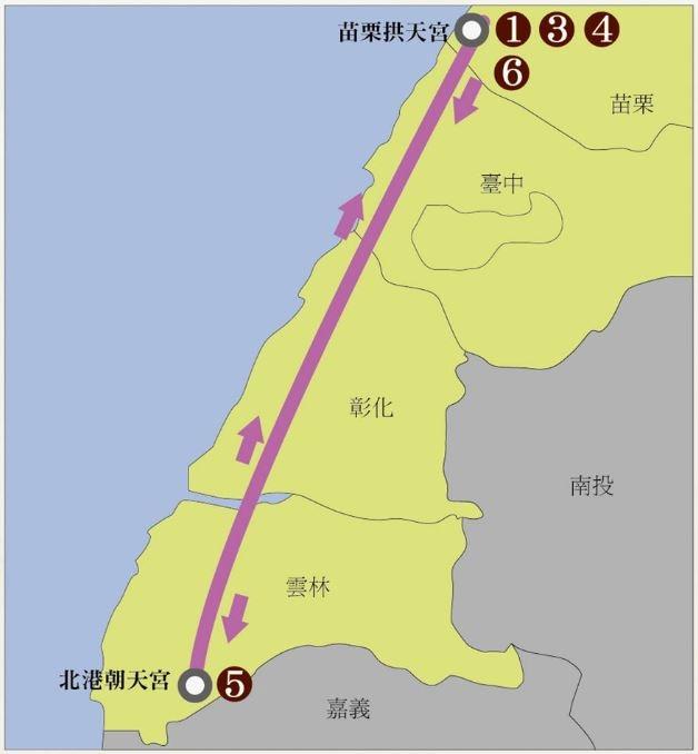 媽祖路線圖