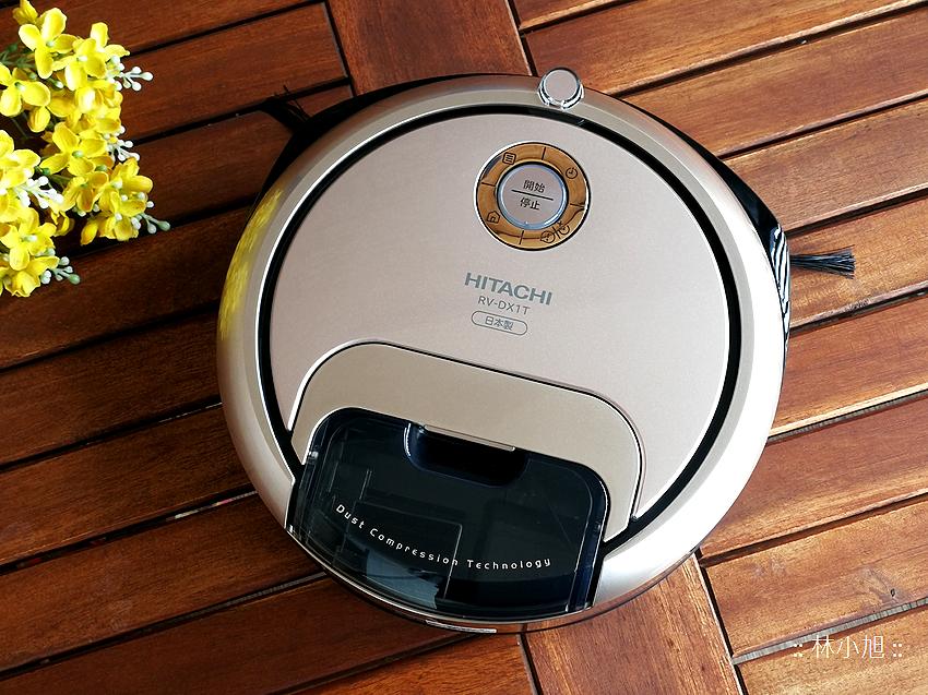 【開箱】小巧可愛!HITACHI 日立 RV-DX1T 迷你丸吸塵機器人