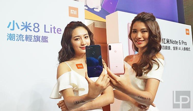 小米8 Lite、紅米Note 6 Pro發表!11/9在台開賣,支援4G全頻段!
