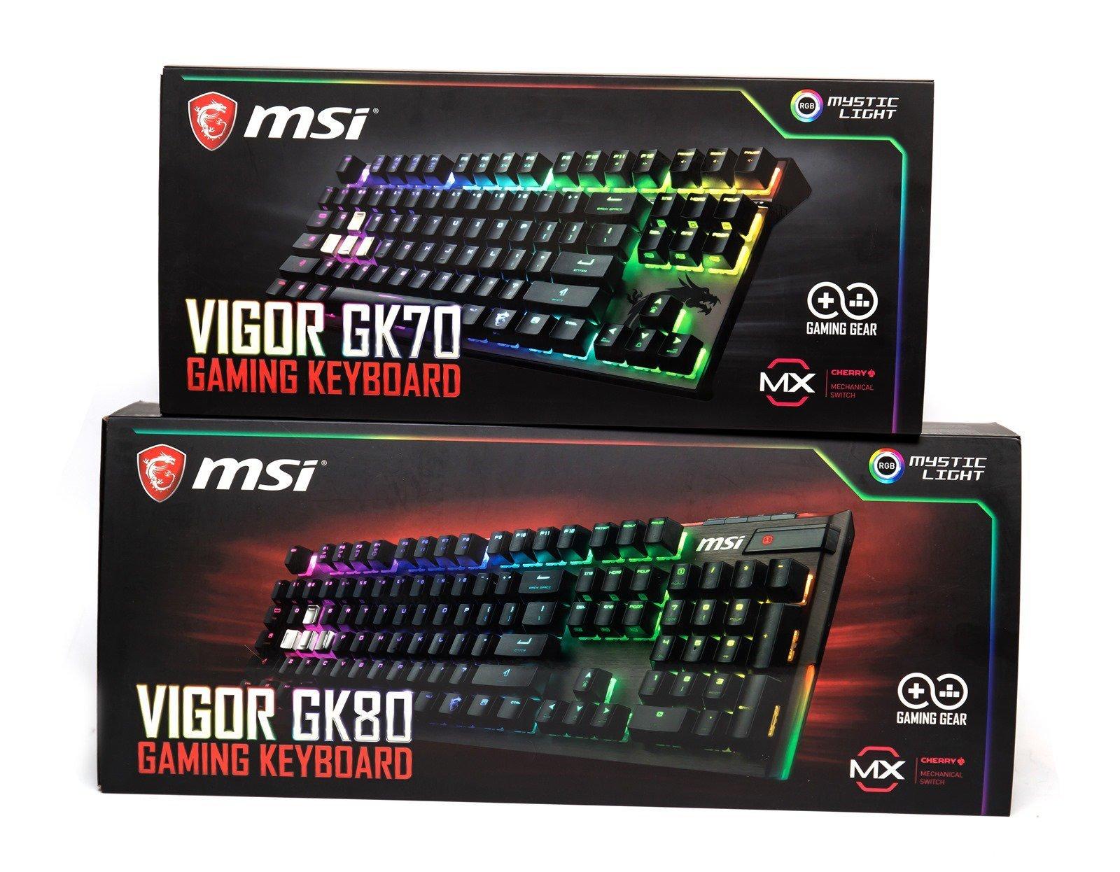 【開箱】小空間也能享有快感!MSI微星VIGOR GK70,80% 配置 87 鍵機械式鍵盤