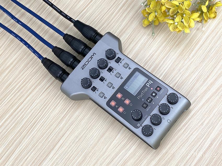 【開箱】Zoom PodTrak P4手持Podcast錄音機