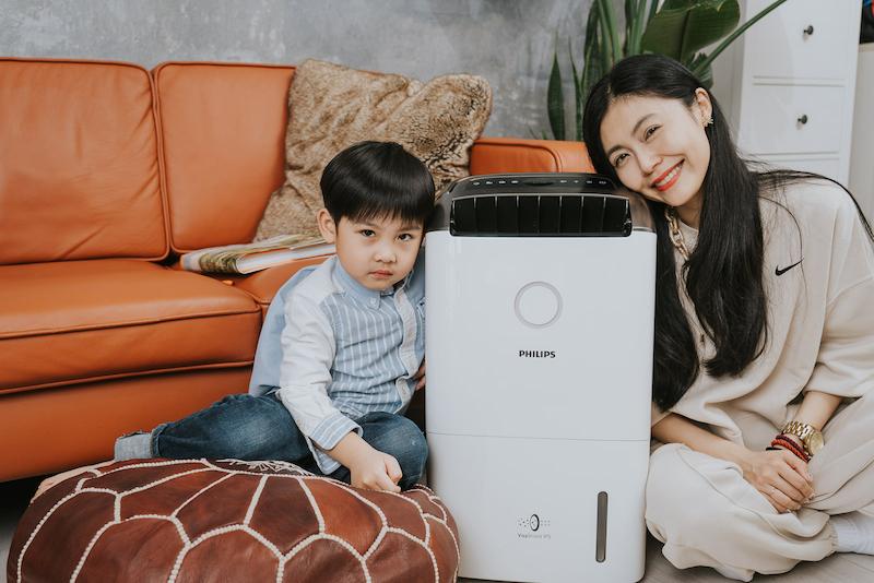 擁有乾爽清淨的美好居家生活,Philips飛利浦抗敏清淨除濕機DE5205。